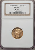 German States:Bavaria, German States: Bavaria. Otto gold 10 Mark 1905-D MS62 NGC,...