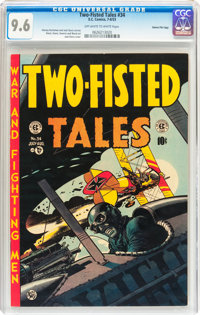 Two-Fisted Tales #34 Gaines File pedigree 3/11 (EC, 1953) CGC NM+ 9.6 Off-white to white pages