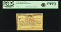 Colonial Notes:New York, New York Water Works January 6, 1776 4 Shillings Fr. NY-183. PCGSSuperb Gem New 67PPQ.. ...