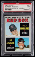 Baseball Cards:Singles (1970-Now), 1970 Topps Red Sox Rookies #317 PSA Mint 9....
