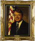"""Political:3D & Other Display (1896-present), Jimmy Carter and Rosalynn Carter Oil Portraits by Lawrence Williams. Each oil portrait is 16"""" x 20"""" and framed in gilt to an... (Total: 2 Item)"""