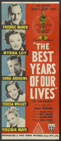 "Movie Posters:Academy Award Winner, The Best Years of Our Lives (RKO, R-1954). Australian Daybill(12.75"" X 30""). Academy Award Winner. ..."