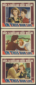 "Movie Posters:Drama, In This Our Life (Warner Brothers, 1942). Lobby Cards (3) (11"" X14""). Drama. ... (Total: 3 Items)"