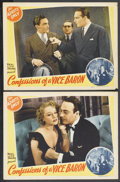 Movie Posters:Crime, Confessions of a Vice Baron Lot (Real Life Dramas, 1943). LobbyCards (2) and four other Crime and Exploitation Lobby Cards ...(Total: 6 Items)