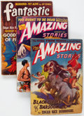 Pulps:Science Fiction, Assorted Edgar Rice Burroughs-Related Science Fiction Pulps Groupof 11 (Various, 1940-56) Condition: Average VG.... (Total: 11 ComicBooks)