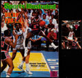Basketball Collectibles:Publications, 1984 and 1987 Michael Jordan Magazine and Early Career Bulls Pocket Schedule....