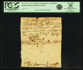 Colonial Notes:North Carolina, North Carolina November 27, 1729 3 Pounds Handwritten ContemporaryCounterfeit Fr. NC-33. PCGS Very Fine 30 Apparent.. ...