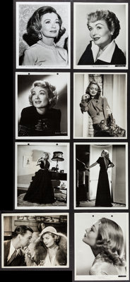 "Constance Bennett Lot (1930s-1960s). Photos (8) (8"" X 10""). Miscellaneous. ... (Total: 8 Items)"