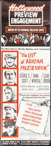 """Movie Posters:Mystery, The List of Adrian Messenger (Universal, 1963). Preview Engagement Door Panels (2) (20.25"""" X 59.25""""). Mystery.. ... (Total: 2 Items)"""