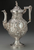 Silver Holloware, American:Coffee Pots, A Robert & William Wilson Coin Silver Coffee Pot, Philadelphia,Pennsylvania, circa 1850. Marks: R & W WILSON, PHILADA....