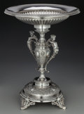 Silver Holloware, Continental:Holloware, A Koch & Bergfeld German Silver Figural Centerpiece Bowl,Bremen, Germany, circa 1880. Marks: 800, N5605, J.C. WICH,(ca... (Total: 2 Items)