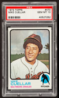 Baseball Cards:Singles (1970-Now), 1973 Topps Mike Cuellar #470 PSA Gem Mint 10 - Pop Two....