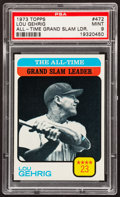Baseball Cards:Singles (1970-Now), 1973 Topps Lou Gehrig #472 PSA Mint 9....
