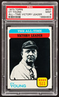 Baseball Cards:Singles (1970-Now), 1973 Topps Cy Young #477 PSA Mint 9....