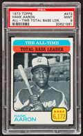 Baseball Cards:Singles (1970-Now), 1973 Topps Hank Aaron #473 PSA Mint 9....
