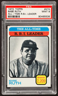Baseball Cards:Singles (1970-Now), 1973 Topps Babe Ruth #474 PSA Mint 9....
