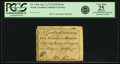 Colonial Notes:North Carolina, North Carolina April 2, 1776 $1/8 Heron Fr. NC-154b. PCGS Very Fine25 Apparent.. ...