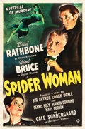 "Movie Posters:Mystery, The Spider Woman (Universal, 1944). One Sheet (27"" X 41"").. ..."