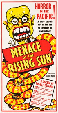 "Menace of the Rising Sun (Universal, 1942). Three Sheet (41"" X 81"")"