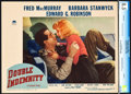 """Movie Posters:Film Noir, Double Indemnity (Paramount, 1944). CGC Graded Lobby Card (11"""" X14"""").. ..."""