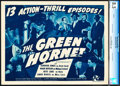 """Movie Posters:Serial, The Green Hornet (Universal, 1940). CGC Graded Title Lobby Card (11"""" X 14"""").. ..."""