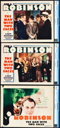 """Movie Posters:Crime, The Man with Two Faces (First National, 1934). CGC Graded TitleLobby Card and Lobby Cards (2) (11"""" X 14"""").. ... (Total: 3 Items)"""