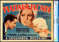 "Movie Posters:Drama, Platinum Blonde (Columbia, 1931). CGC Graded Title Lobby Card (11""X 14"").. ..."