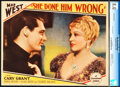 "Movie Posters:Comedy, She Done Him Wrong (Paramount, 1933). CGC Graded Lobby Card (11"" X14"").. ..."