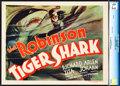 "Movie Posters:Drama, Tiger Shark (First National, 1932). CGC Graded Title Lobby Card(11"" X 14"").. ..."