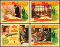 "Movie Posters:Hitchcock, Suspicion (RKO, 1941). Title Lobby Card and Lobby Cards (3) (11"" X 14"").. ... (Total: 4 Items)"