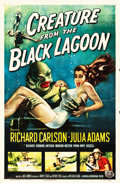 """Movie Posters:Horror, Creature from the Black Lagoon (Universal International, 1954). One Sheet (27"""" X 41"""").. ..."""