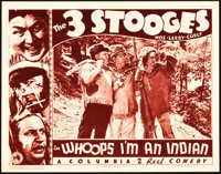 """The Three Stooges in Whoops, I'm an Indian! (Columbia, 1936). Lobby Card (11"""" X 14"""")"""