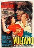"Movie Posters:Drama, Vulcano (Artisti Associati, 1950). Italian 2 - Foglio (39"" X 55"")and Photobustas (2) (13"" X 18.5""). U.S. Title: Volcano...(Total: 3 Items)"