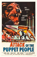 "Movie Posters:Science Fiction, Attack of the Puppet People (American International, 1958). OneSheet (27"" X 41"").. ..."