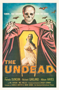 """The Undead (American International, 1957). One Sheet (27"""" X 41"""")"""