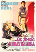 "Movie Posters:Drama, The Fountainhead (Warner Brothers, 1949). Italian 4 - Foglio (55"" X77"").. ..."