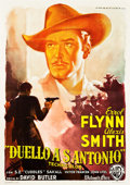 "Movie Posters:Western, San Antonio (Warner Brothers, Late 1940s). First Post-War ReleaseItalian 4 - Foglio (55"" X 77.5"").. ..."