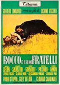 "Movie Posters:Foreign, Rocco and His Brothers (Titanus-Les Films Marceau, 1960). Italian 2 - Foglio (39"" X 55"").. ..."