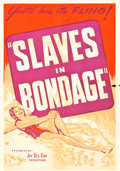 "Movie Posters:Crime, Slaves in Bondage (Roadshow Attractions, 1937). One Sheet (28"" X40"") Purple Style.. ..."