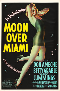 "Moon Over Miami (20th Century Fox, 1941). One Sheet (27"" X 41"") Style A"