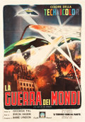 "Movie Posters:Science Fiction, The War of the Worlds (Paramount, R-1960s). Italian 4 - Foglio(54.5"" X 76.25"").. ..."