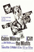 "Movie Posters:Drama, The Misfits (United Artists, 1961). One Sheet (27"" X 41"") FlatFolded.. ..."