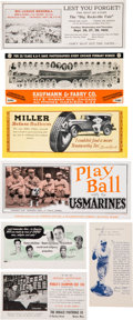 Baseball Collectibles:Others, 1910's-1950's Baseball Theme Ink Blotters Collection (27) WithMack, Ott, Frisch, Etc. ...
