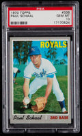 Baseball Cards:Singles (1970-Now), 1970 Topps Paul Schaal #338 PSA Gem Mint 10....
