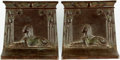 Books:Furniture & Accessories, [Bookends]. Pair of Matching Bradley and Hubbard Signed Cast IronBookends with an Egyptian Motif. No date, circa 1920. ... (Total: 2Items)