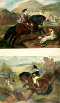 Books:Prints & Leaves, [Sporting Prints]. Edwin Henry Landseer, English artist(1802-1873). Pair of Nineteenth-Century Lithographic Prints afterWork...