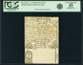 Colonial Notes:Rhode Island, Rhode Island December 2, 1740 40 Shillings Face Proof Fr. RI-42. PCGS Extremely Fine 45 Apparent.. ...