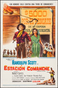 "Movie Posters:Western, Comanche Station & Others Lot (Columbia, 1960). Spanish Language One Sheet and One Sheets (2) (27"" X 41""). Western.. ... (Total: 3 Items)"