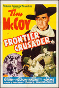 "Movie Posters:Western, Frontier Crusader (PRC, 1940). One Sheet (27"" X 41""). Western.. ..."