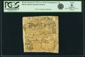 Colonial Notes:Rhode Island, Rhode Island March 18, 1750 2 Ounces, 10 dwt. (8 Pounds Old Tenor)Contemporary Counterfeit Fr. RI-65a. PCGS Good 6 Apparent....
